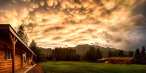 Summer Sunset at Rocky Mountain Lodge